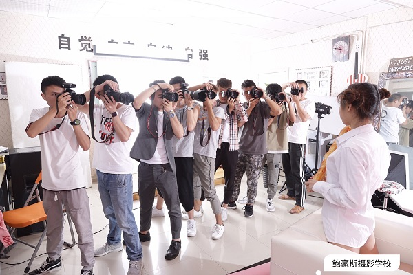 成都鲍豪斯摄影学校学员棚拍练习花絮